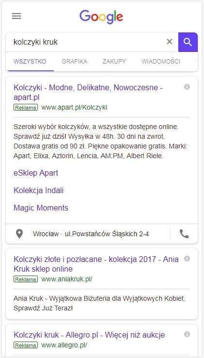 Wyszukiwanie na telefonie