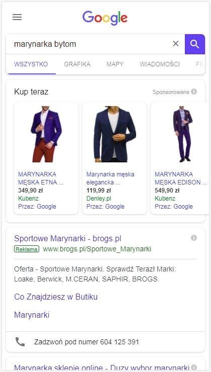 Google na telefonie