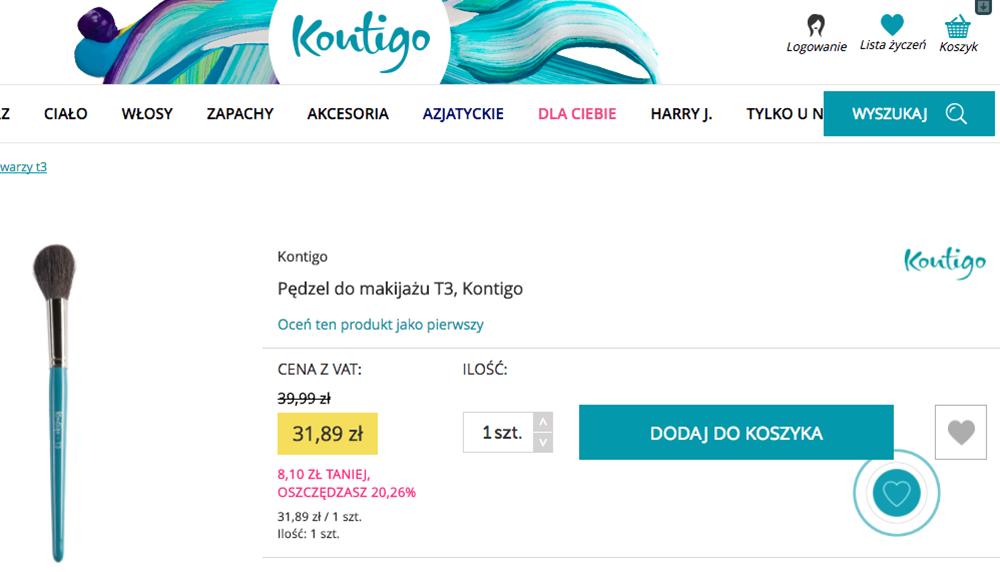 Tonacja koloru na stronie internetowej