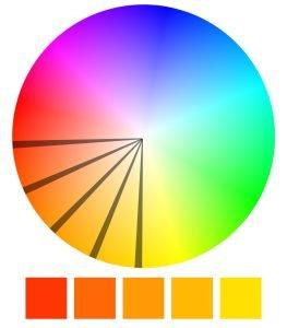 Schemat harmonijny kolorów