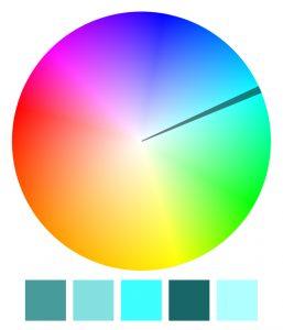 Schemat monochromatyczny kolorów