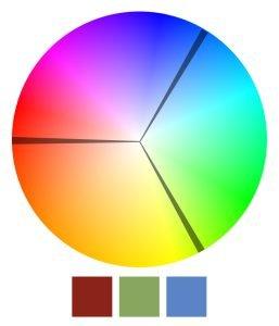 Schemat triada kolorów