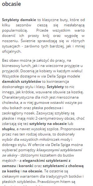 Opis na viadellespiga.pl